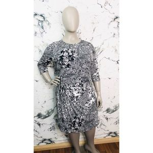 Millers Paisley Abstract Print Midi Dress